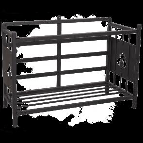 Braai Seitengestell für Holzlagerung Stahl schwarz lackiert