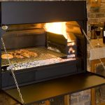 Build-in Braai Grill eingebaut in Aktion