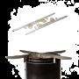 Zusammenstecken, Pfanne drauf und brutzeln- der Feuerstand von Petromax