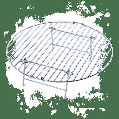BigGreenEgg Zubehör Faltbarer Grillrost aus Edelstahl - Erhöhung für den BGE L, XL, XXL