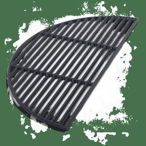 BigGreenEgg Zubehör halbrunder Grillrost aus Gusseisen für das BGE Modell XL