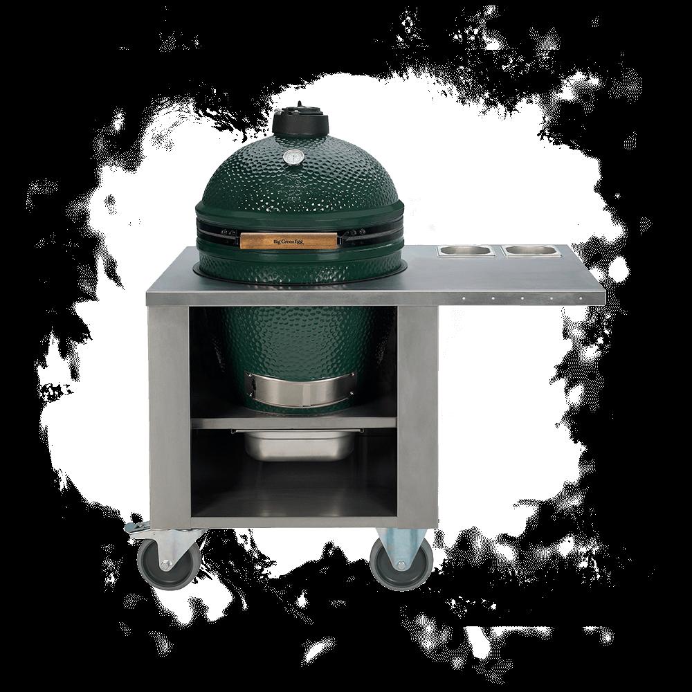 biggreenegg edelstahl profi tisch grillbar bq. Black Bedroom Furniture Sets. Home Design Ideas
