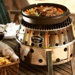 Atago Grill mit Dutch Oven Pfanne Kochen