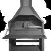 HomeFires Braai Grill freistehend Modell 1200 Supreme mit Kamin und TurboCowl & optionalem Untergestell