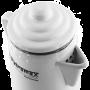 Weiße Kaffeekanne - der Perkolator