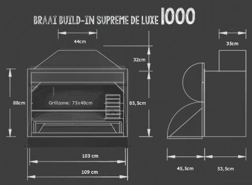 Braai Build-in neues Einbaumodell 2016 in der Größen 800