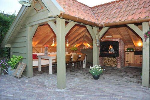 Einbau Beispiel BRAAI Grill 1200 Gartenhaus Holzkohlegrill