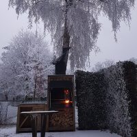 HomeFires Einbaumodell Supreme de Luxe 800 im Winter
