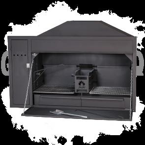 Homefires Spit-Braai Einbau BRAAI Grills mit Motorschrank für die Rotisserie Modell 1200