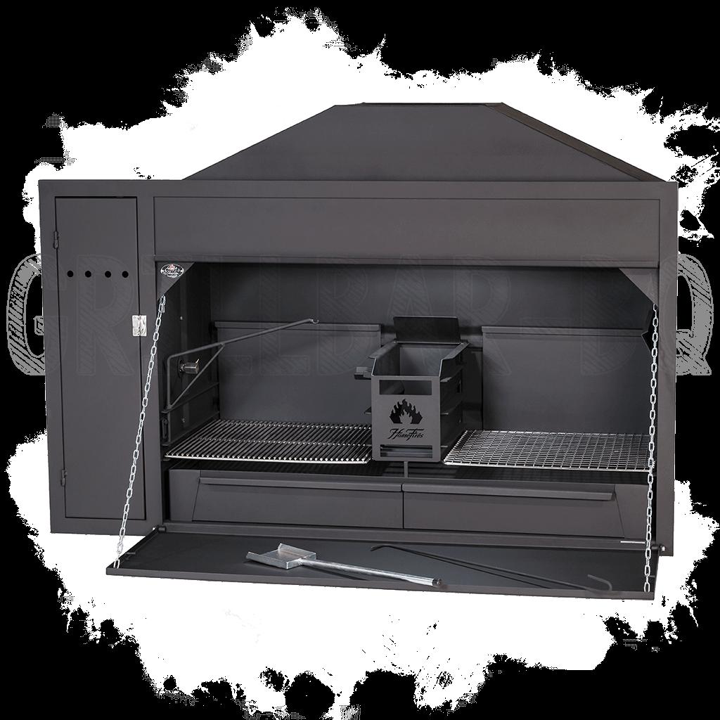 Homefires Spit-Braai Einbau BRAAI Grills mit Motorschrank für die Rotisserie Modell 1200 - Neues verbessertes Modell 2019