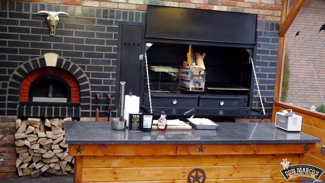 Outdoorküche Klappbar Unterschied : Spit braai einbau 1200 mit motor drehspieß grillbar bq