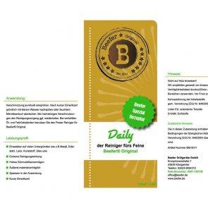 Beefer Original Daily Reiniger Beschreibung Etikett