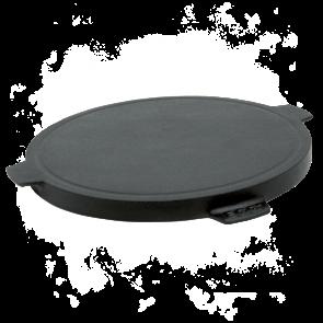 BigGreenEgg Zubehör Grillplatte aus Gusseisen Griddle reriffelt und glatt mit 2 Seiten für BGE Modelle L, XL und XXL
