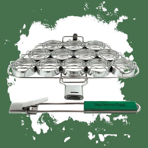 BigGreenEgg Zubehör Burgerkorb, Zubereitungn von 12 Mini-Burger für BGE Modelle L, XL und XXL