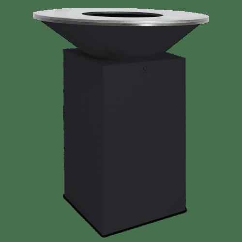OFYR Feuerplatte-classic-black-85-100 - schwarzer Stahlsockel