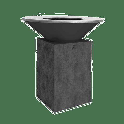 OFYR Feuerschale und Grillplatte classic-concrete-100-100 mit Betonsockel