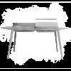 LISA BBQ Etna Maxi Holzkohlegrill Edelstahl, 2 Grillflächen, Füsse abnehmbar
