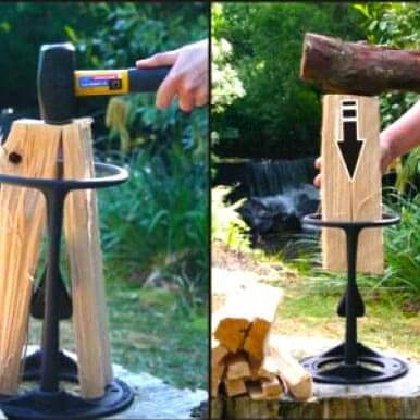 Holzspalten ganz einfach mit dem Kindling Cracker Original