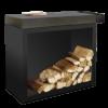 OFYR Butcher Block 90 Blackline mit Keramik Arbeitsplatte/Schneidbrett mit Holzlager
