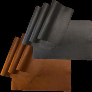 OFYR Tischset Leder schwarz braun
