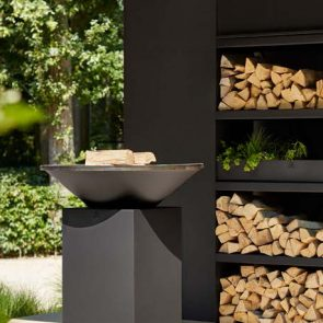 OFYR Wood Storage Black