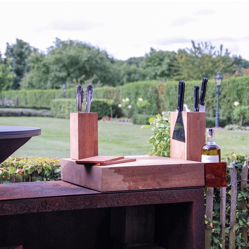 OFYR Magnetischer Messerblock aus Rubberwood