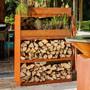 OFYR Wood Storage Cabinet Corten