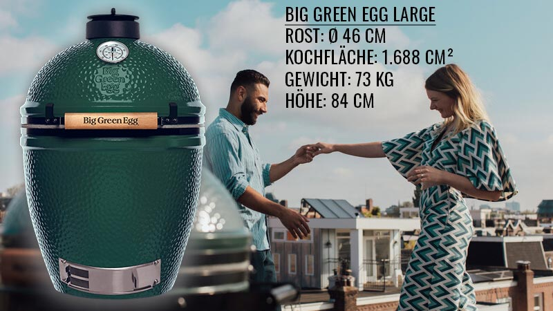 Big Green Egg Large Spezifikationen