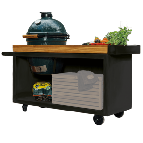 Ofyr Kamadotable in schwarz & BigGreen Egg Large
