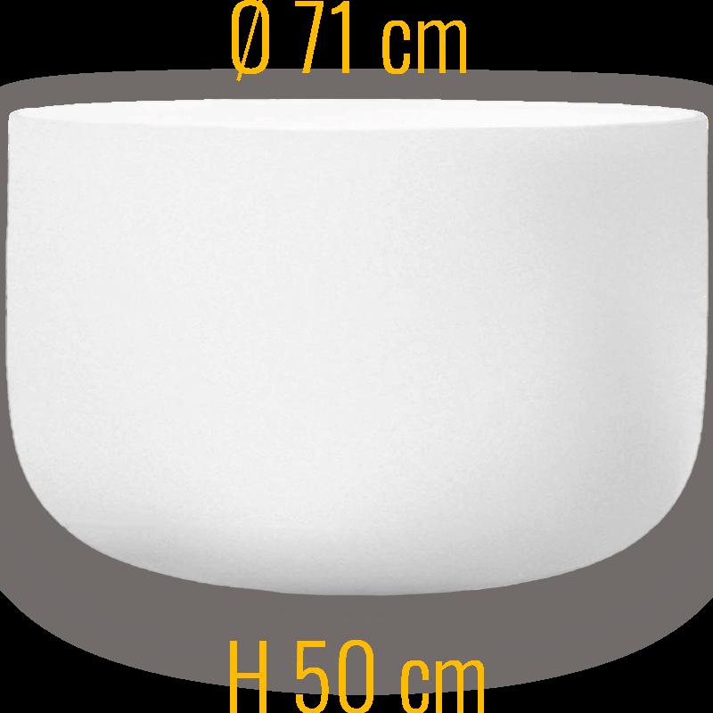 Glasfeuerschale Qflame in 71cm Durchmesser