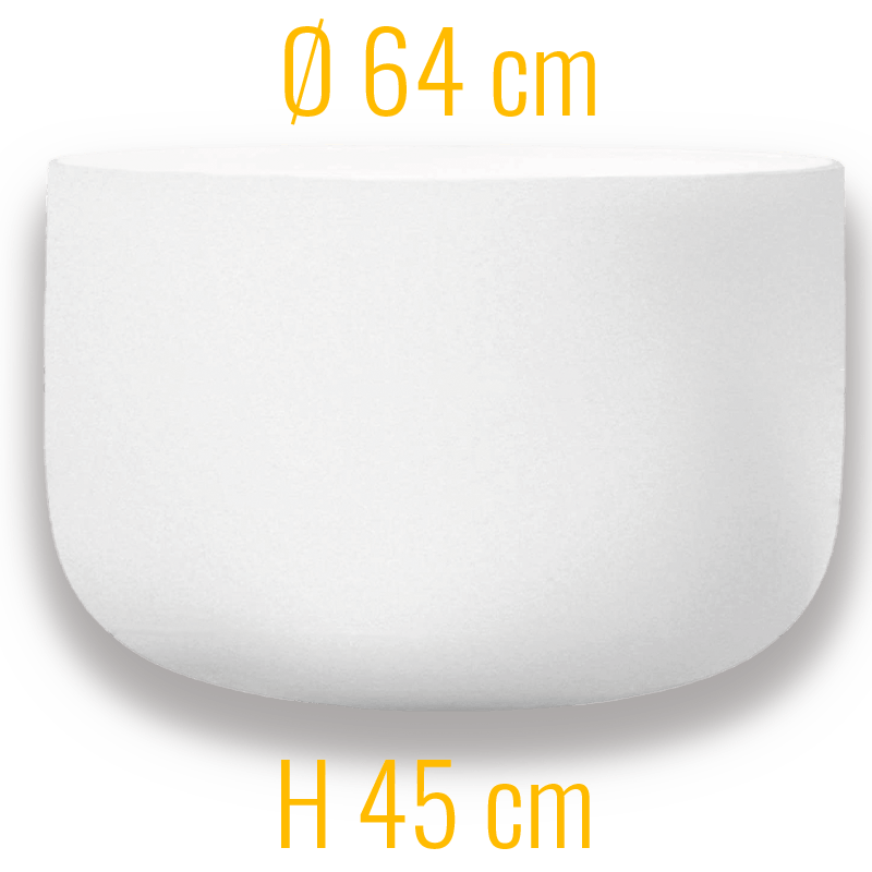 Qflame Glasfeuerschale M 64 Quarzglas
