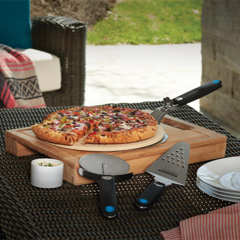 Napoleon PizzaSet Pizza Lovers 4 teiliges Kit in Aktion