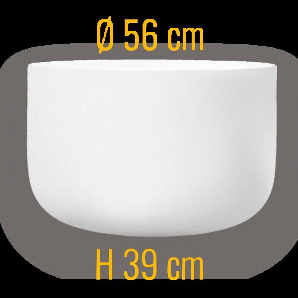 QFlame Größe S mit Durchmesser 56 Quarzglas Feuerschale