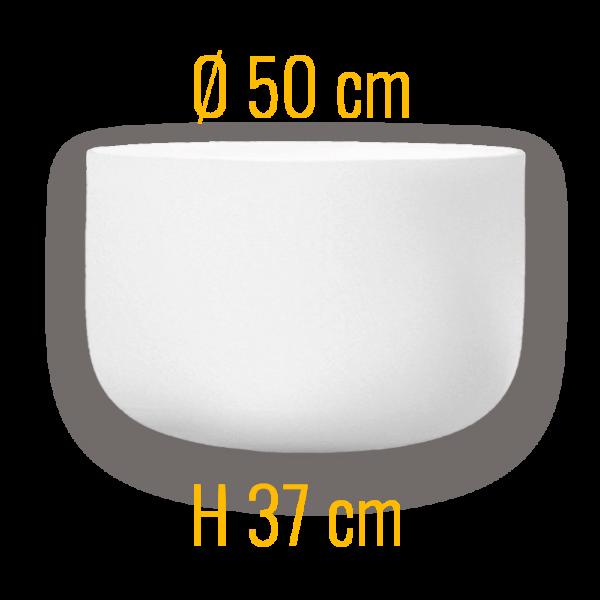 QFlame-xs50 Feuerschale aus Quarzglas