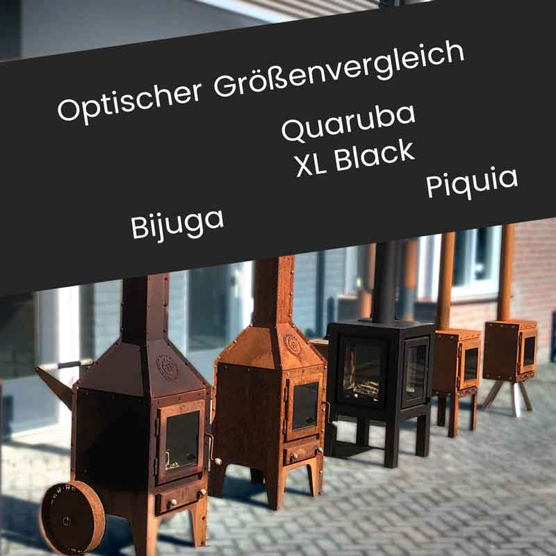 RB73 Terrassenkamine Bijuga, Piquia & Quaruba im Vergleich