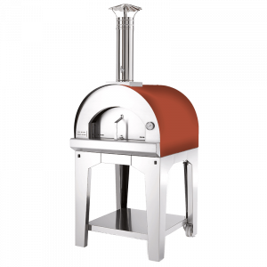 Pizzaofen Margherita mit rotem Dach mit Untergestell