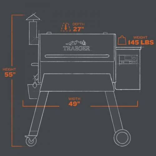 Traeger Pro780 Technische Details Maße
